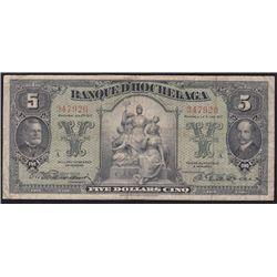 1917 Banque D'Hochelaga $5