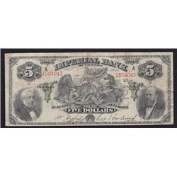 1920 Imperial Bank of Canada $5