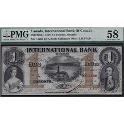 1858 International Bank $1