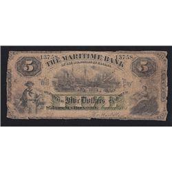 1881 Maritime Bank $5