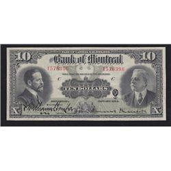 1914 Bank of Montreal $10
