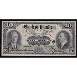 1931 Bank of Montreal $10
