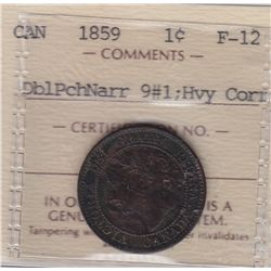 1859 One Cent DP N9 Variation