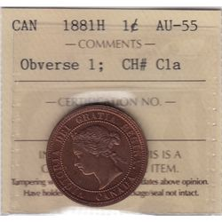 1881H One Cent Obverse 1