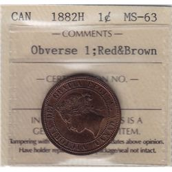 1882H One Cent Obverse 1