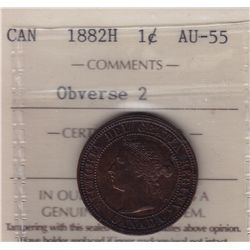 1882H One Cent Obverse 2