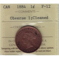 1884 One Cent Obverse 1