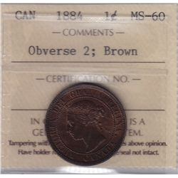 1884 One Cent Obverse 2