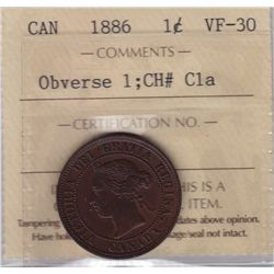 1886 One Cent Obverse 1