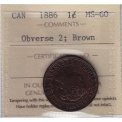 1886 One Cent Obverse 2