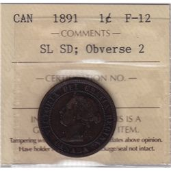 1891 One Cent Obverse 2