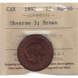 1892 One Cent Obverse 3