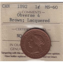 1892 One Cent Obverse 4