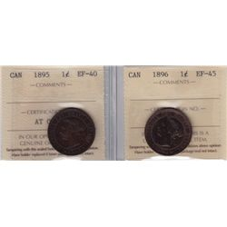 ICCS Graded One Cents - Lot of 2