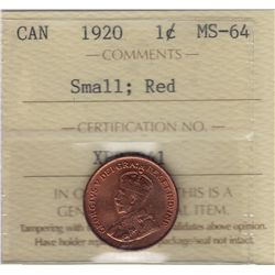1920 Once Cent, Small