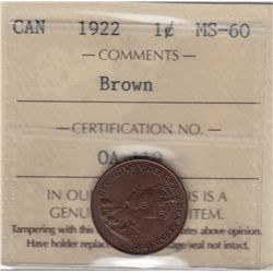 1922 One Cent