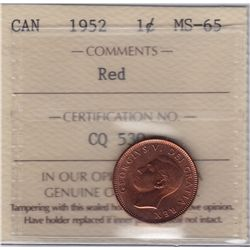 1952 One Cent