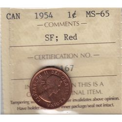 1954 One Cent, Shoulder Fold