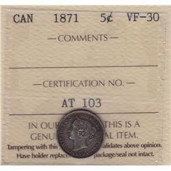 1871 Five Cent