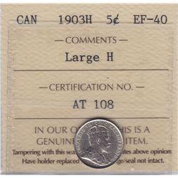 1903H Five Cent Large H