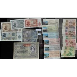 Lot of 24 European Bank Notes