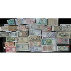 Lot of 31 Europe & West Asia Bank Notes