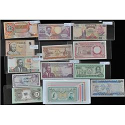 Lot of 17 African Continent Bank Notes