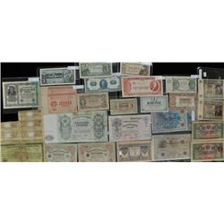 Lot of 26 War Currency Bank Notes