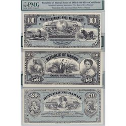 Lot of Five Hawaii Bank Notes & Certificates