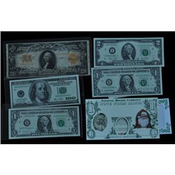 Lot of Five USA Notes