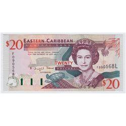 1994 Eastern Caribbean $20