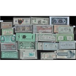 Lot of 28 Municipal & Trade Scrip