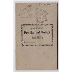 1848 The Montreal Provident and Savaings Deposit Book