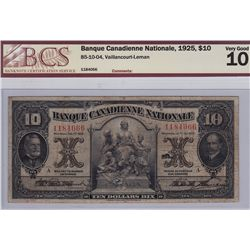 1925 Banque Canadienne Nationale $10