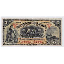 1908 Bank of Nova Scotia $5