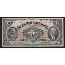 1924 Bank of Nova Scotia $5