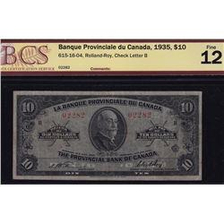 1935 La Banque Provinciale du Canada $10