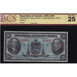 1935 Royal Bank of Canada $20