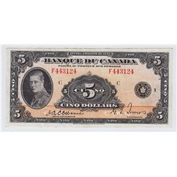1935 Bank Du Canada $5