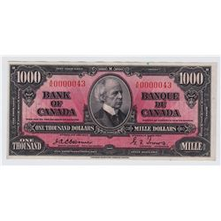 1937 Bank of Canada $1000