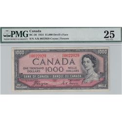 1954 Bank of Canada $1000 Devil's Face