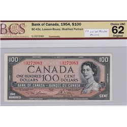 1954 Bank of Canada $100