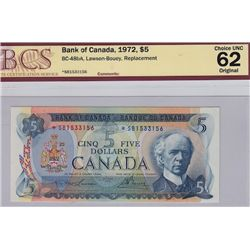 1972 Bank of Canada $5