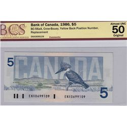 1986 Bank of Canada $5
