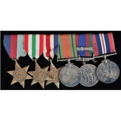 WWII Group of Six War Medals