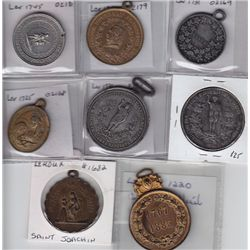 Lot of Eight Leroux Medals