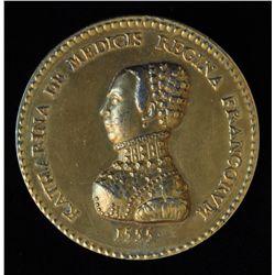 1555 France Henry II & atherine De Medicis Medal