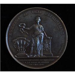 1847 France Patronage of Geneva Medal