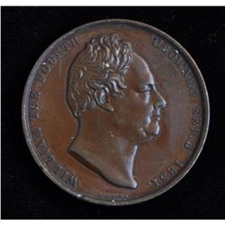 1831 Great Britain Official Bronze Coronation of William IV Medal