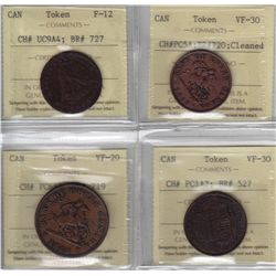 Lot of Four ICCS Graded Tokens